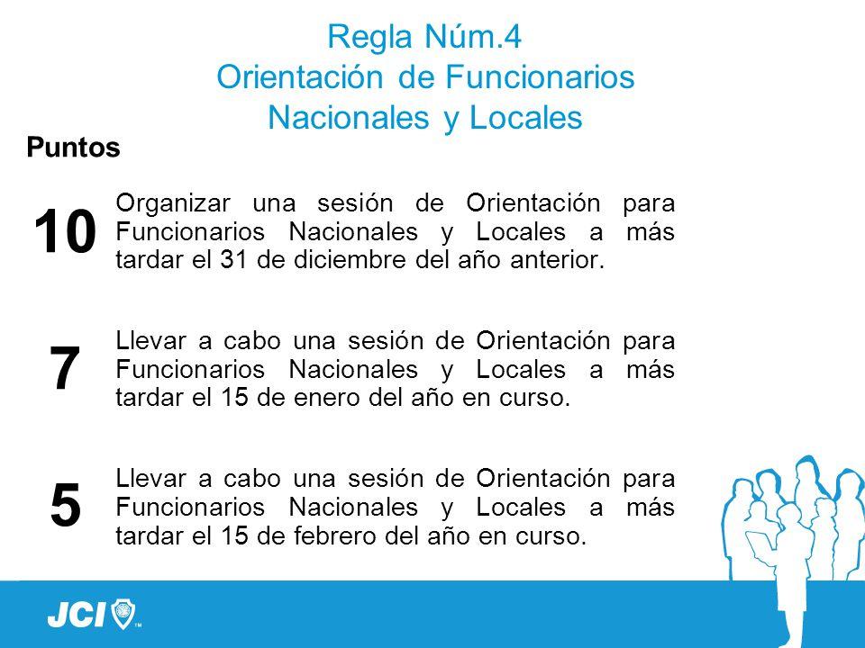 Regla Núm.4 Orientación de Funcionarios Nacionales y Locales