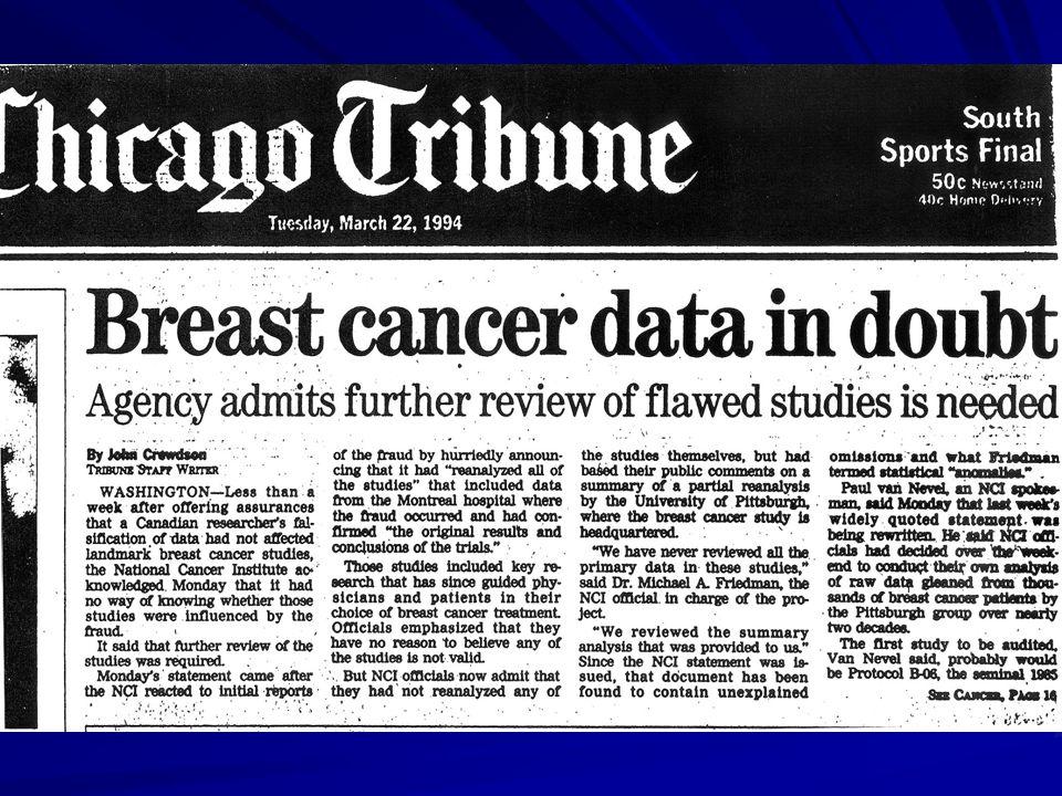 Datos de cáncer de mama en duda