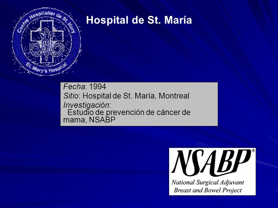 Hospital de St. María Fecha: 1994
