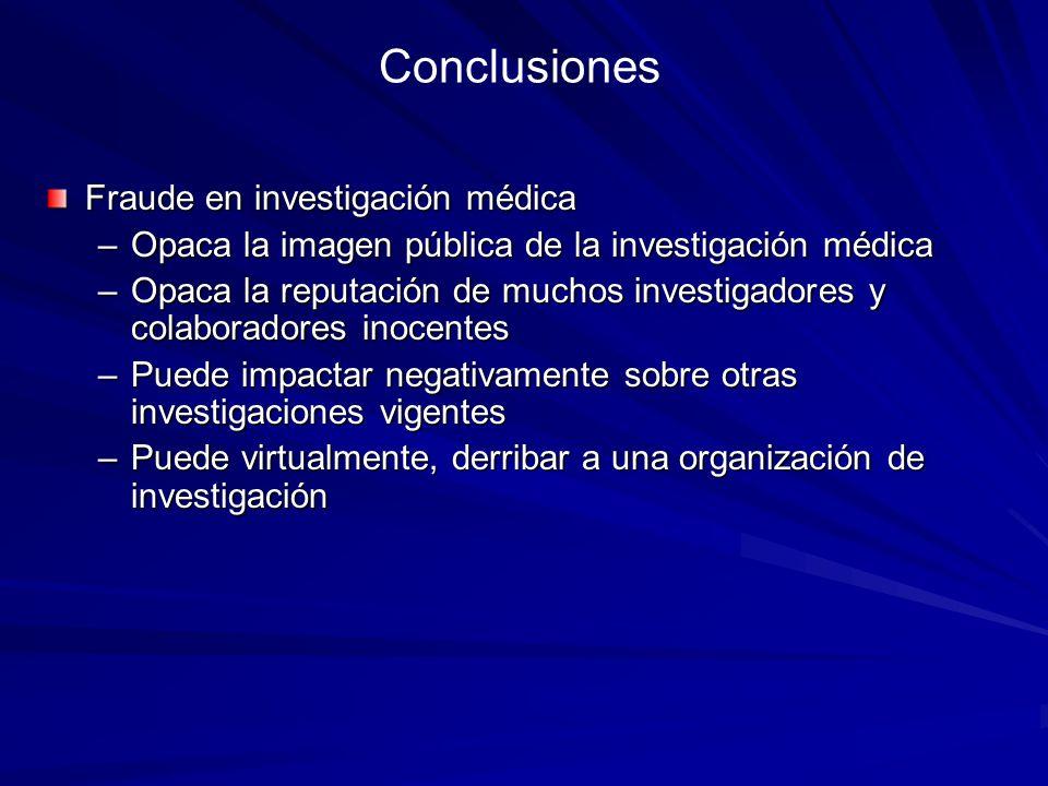 Conclusiones Fraude en investigación médica