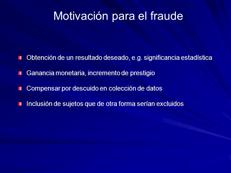Motivación para el fraude