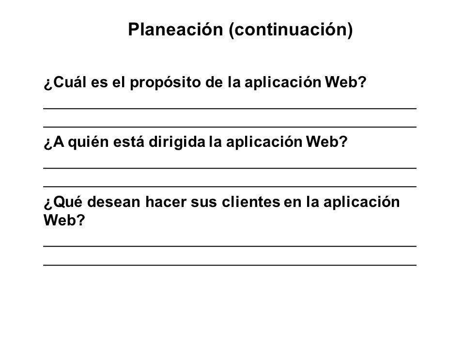 Planeación (continuación)