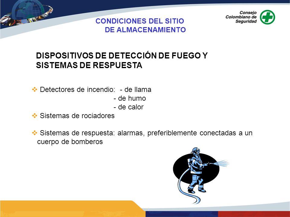 DISPOSITIVOS DE DETECCIÓN DE FUEGO Y SISTEMAS DE RESPUESTA