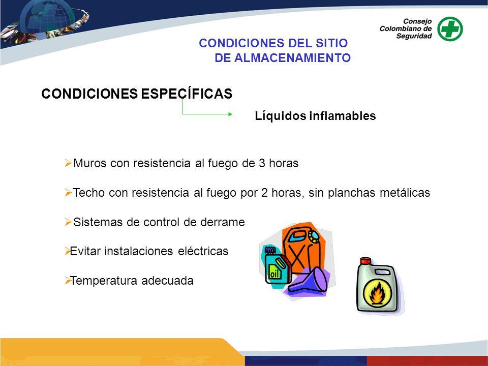 CONDICIONES ESPECÍFICAS