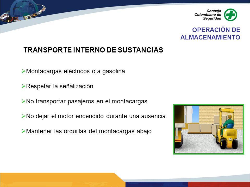 TRANSPORTE INTERNO DE SUSTANCIAS