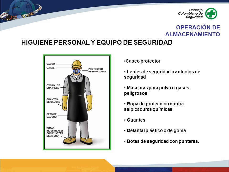 HIGUIENE PERSONAL Y EQUIPO DE SEGURIDAD