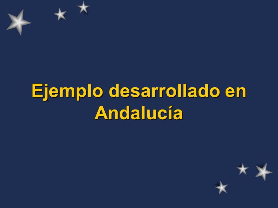 Ejemplo desarrollado en Andalucía