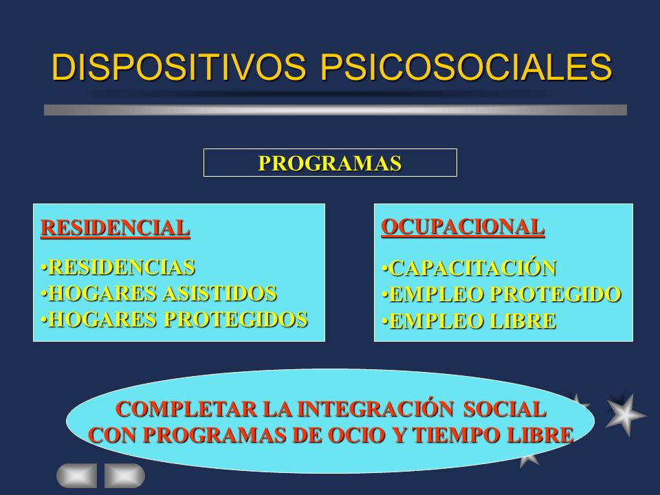 DISPOSITIVOS PSICOSOCIALES
