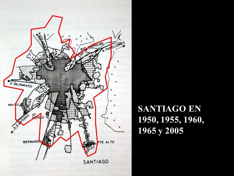 SANTIAGO EN 1950, 1955, 1960, 1965 y 2005