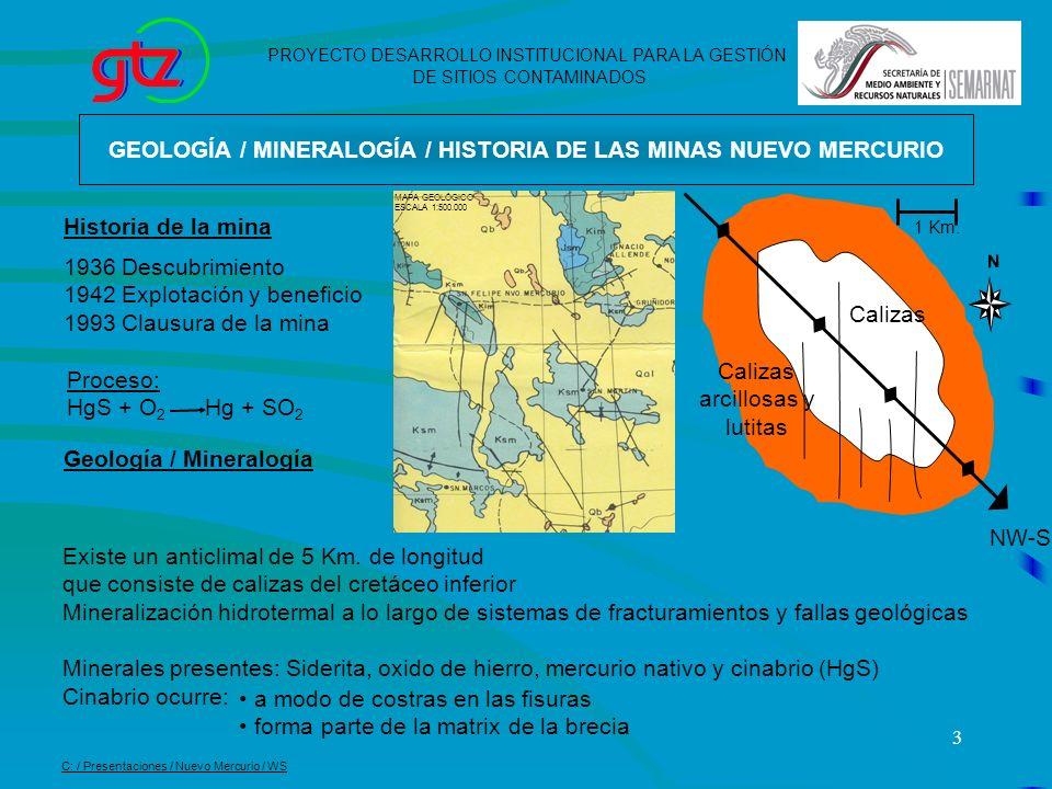 GEOLOGÍA / MINERALOGÍA / HISTORIA DE LAS MINAS NUEVO MERCURIO