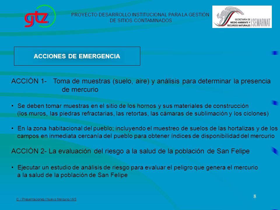 ACCIONES DE EMERGENCIA