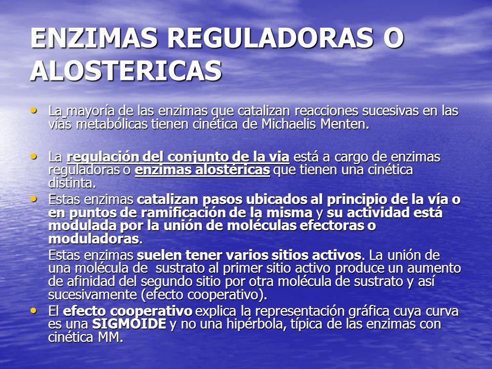 ENZIMAS REGULADORAS O ALOSTERICAS