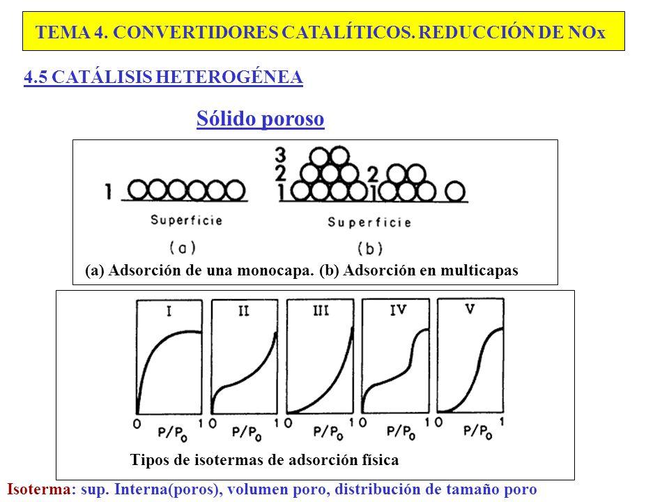 Sólido poroso TEMA 4. CONVERTIDORES CATALÍTICOS. REDUCCIÓN DE NOx