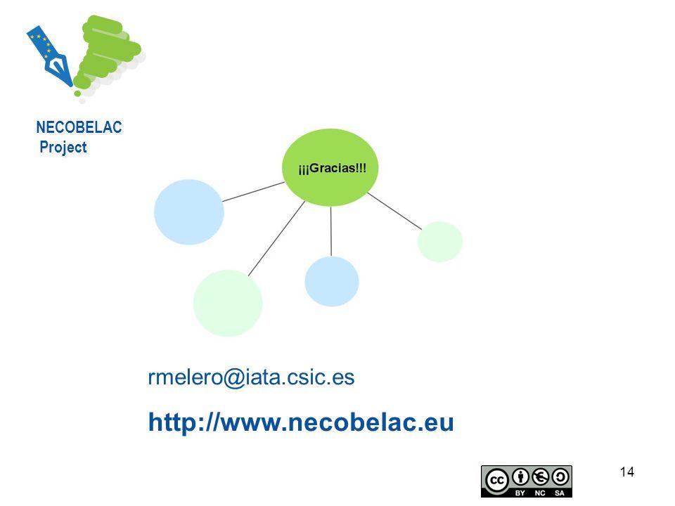 NECOBELAC Project rmelero@iata.csic.es http://www.necobelac.eu