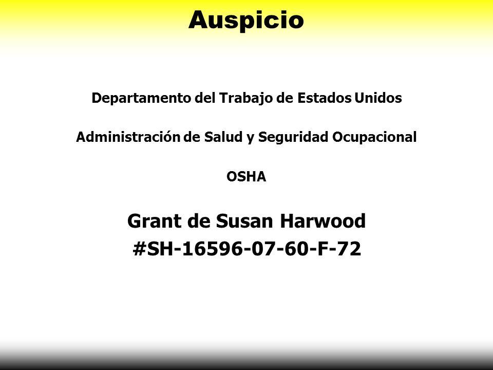 Auspicio Grant de Susan Harwood #SH-16596-07-60-F-72