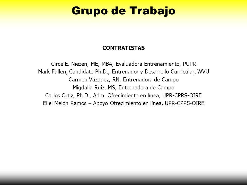 Grupo de Trabajo CONTRATISTAS