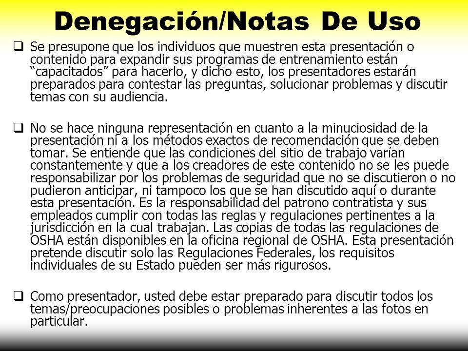 Denegación/Notas De Uso