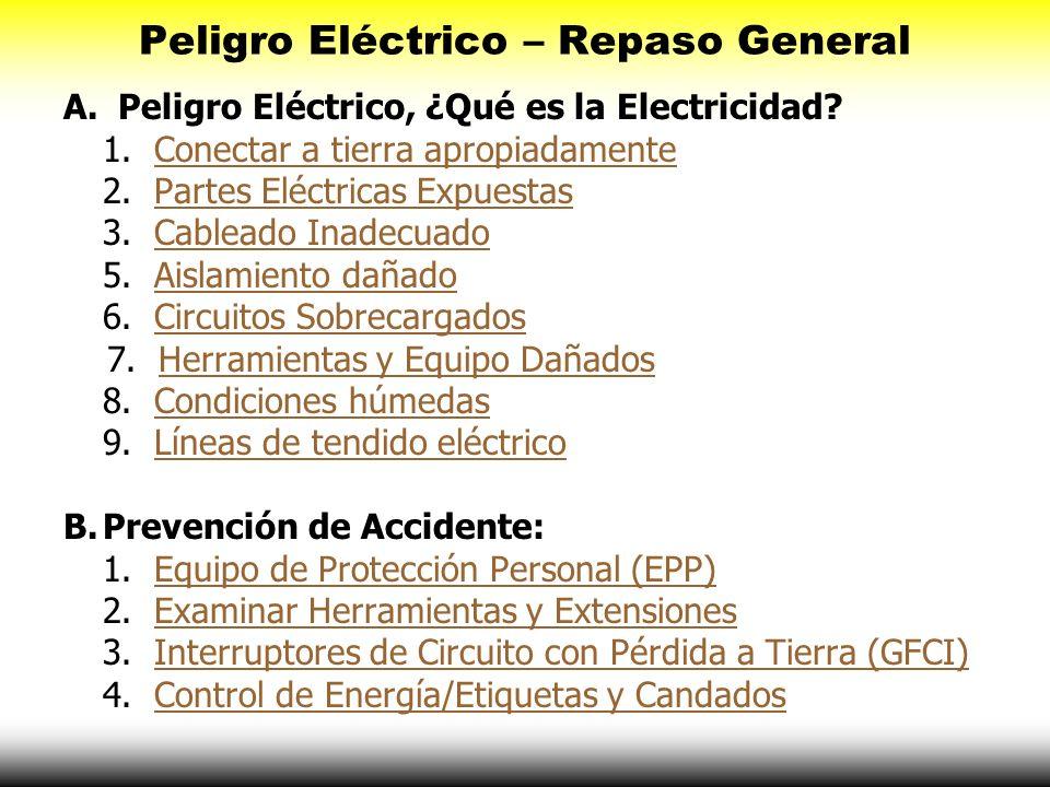 Peligro Eléctrico – Repaso General