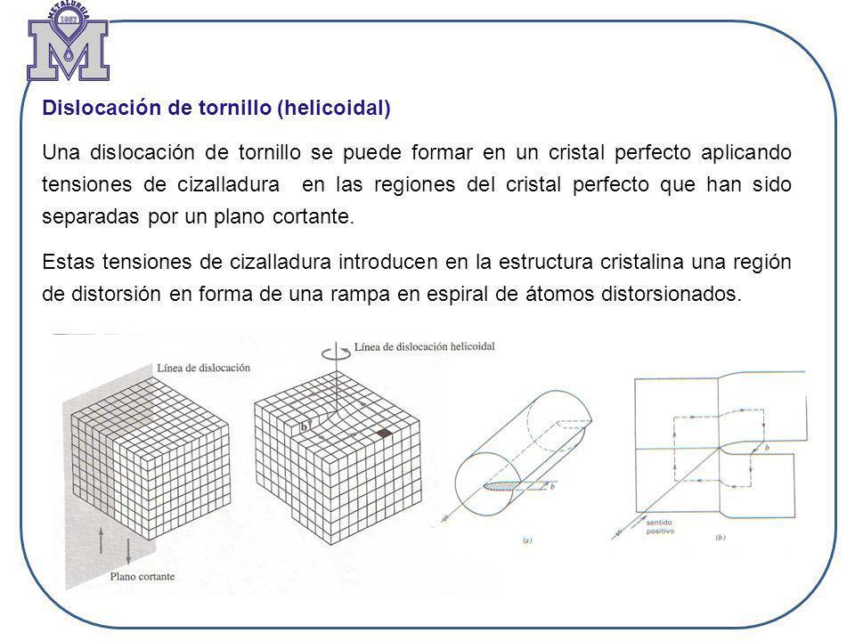 Dislocación de tornillo (helicoidal)