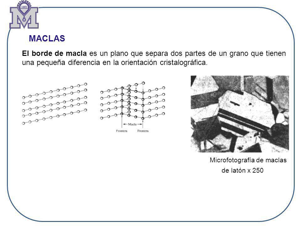 Microfotografía de maclas