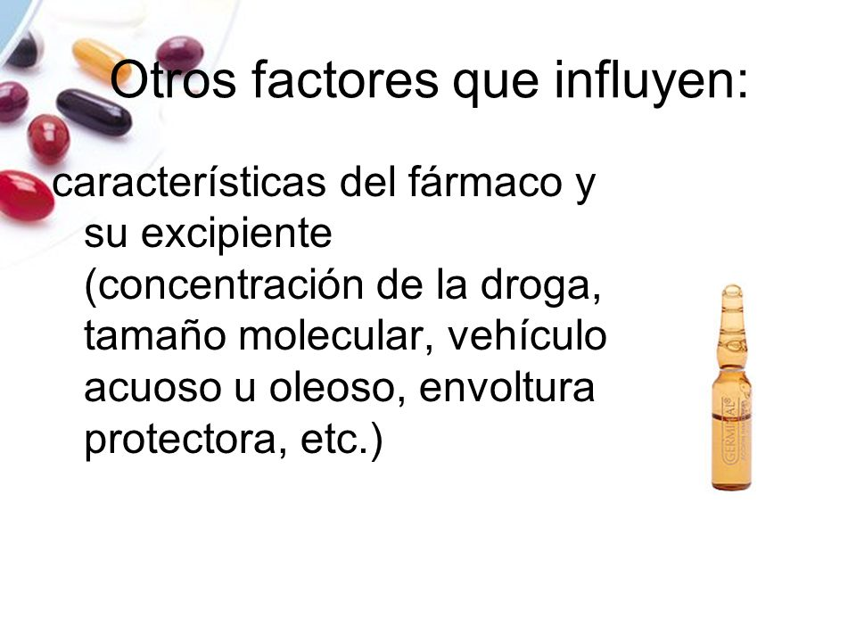 Otros factores que influyen: