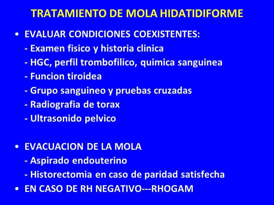 TRATAMIENTO DE MOLA HIDATIDIFORME