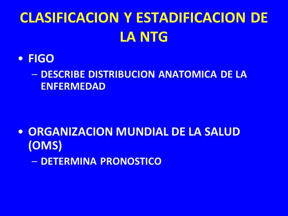 CLASIFICACION Y ESTADIFICACION DE LA NTG