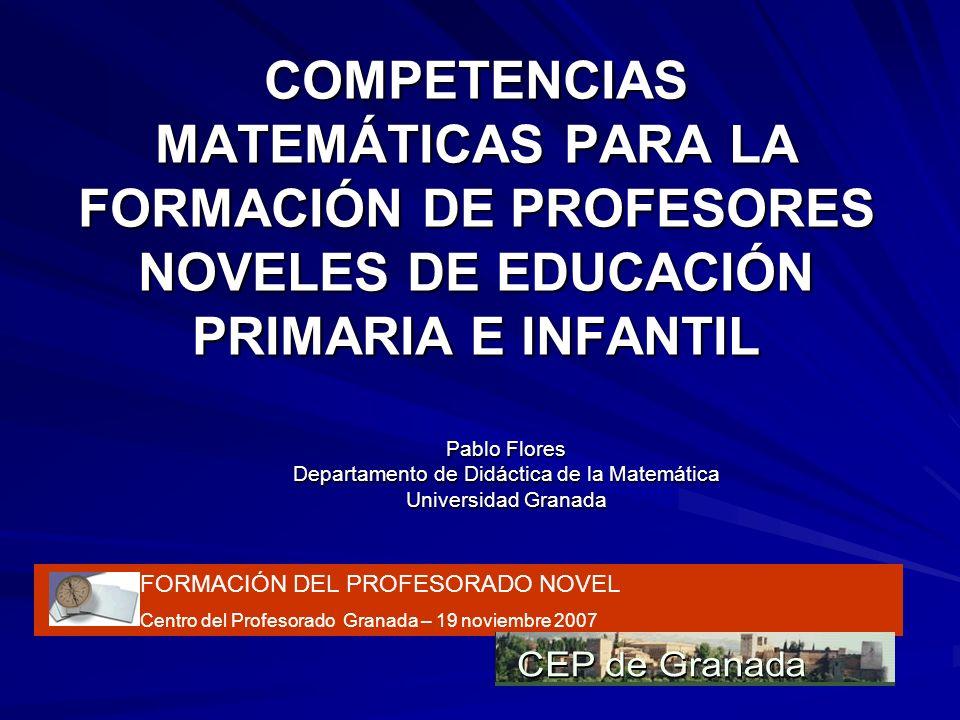 Departamento de Didáctica de la Matemática