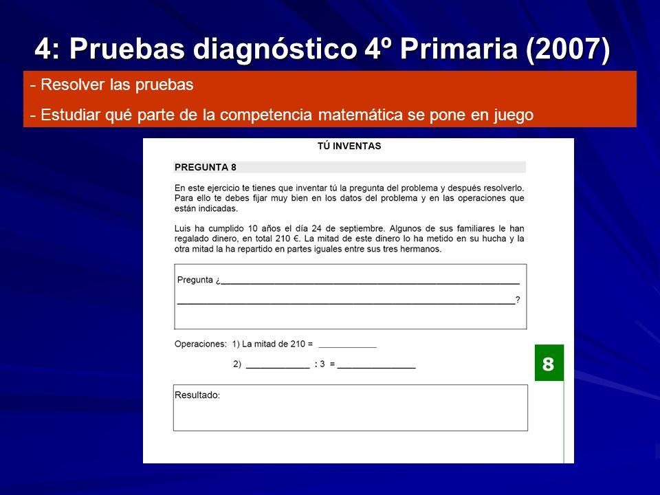 4: Pruebas diagnóstico 4º Primaria (2007)