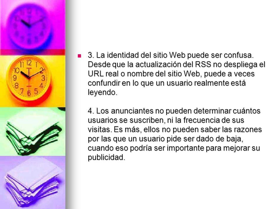 3. La identidad del sitio Web puede ser confusa
