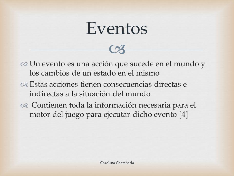 Eventos Un evento es una acción que sucede en el mundo y los cambios de un estado en el mismo.