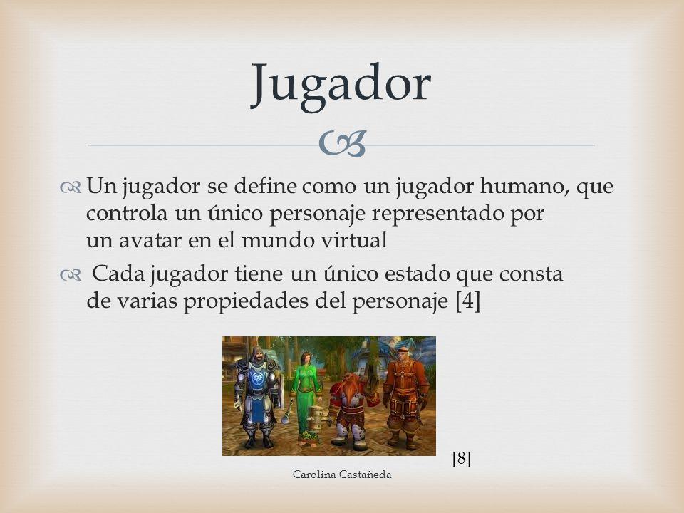 JugadorUn jugador se define como un jugador humano, que controla un único personaje representado por un avatar en el mundo virtual.