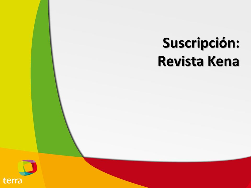 Suscripción: Revista Kena