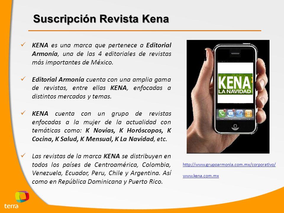 Suscripción Revista Kena