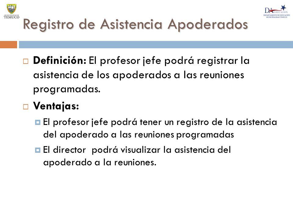 Registro de Asistencia Apoderados
