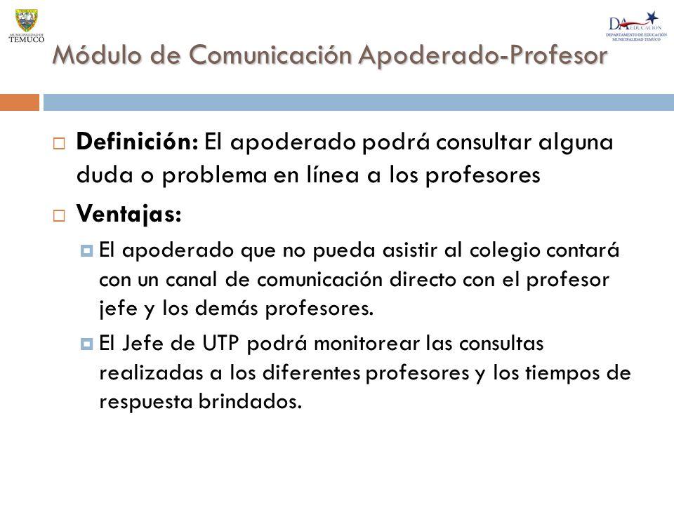 Módulo de Comunicación Apoderado-Profesor