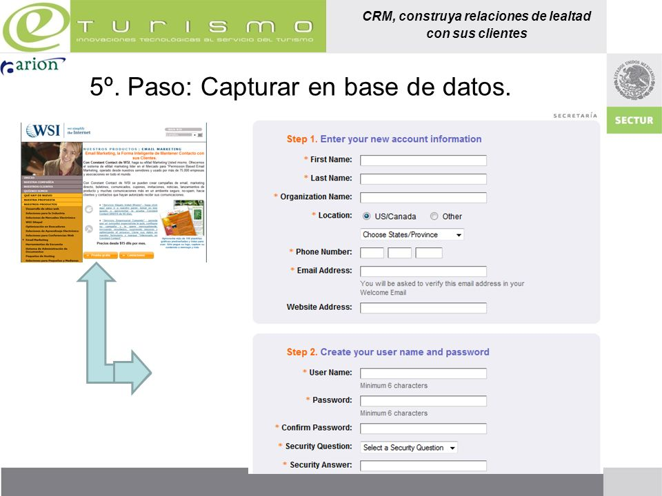 5º. Paso: Capturar en base de datos.