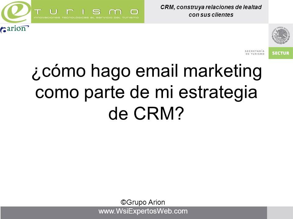 ¿cómo hago email marketing como parte de mi estrategia de CRM
