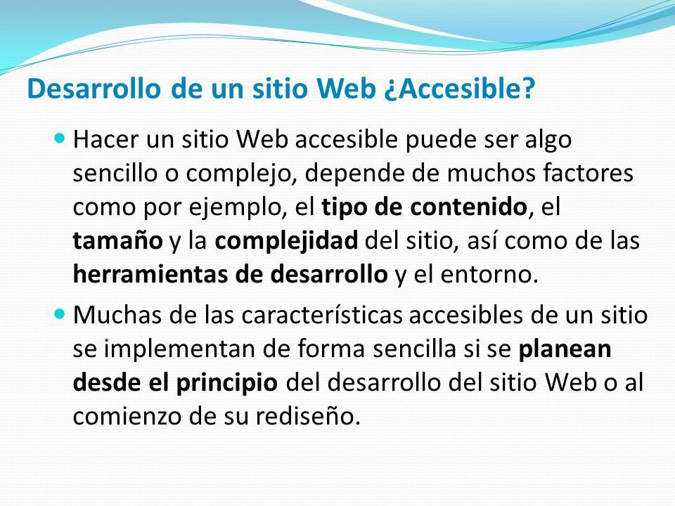 Desarrollo de un sitio Web ¿Accesible