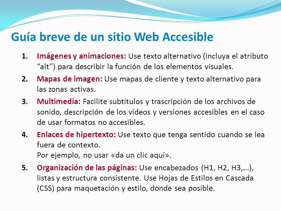 Guía breve de un sitio Web Accesible