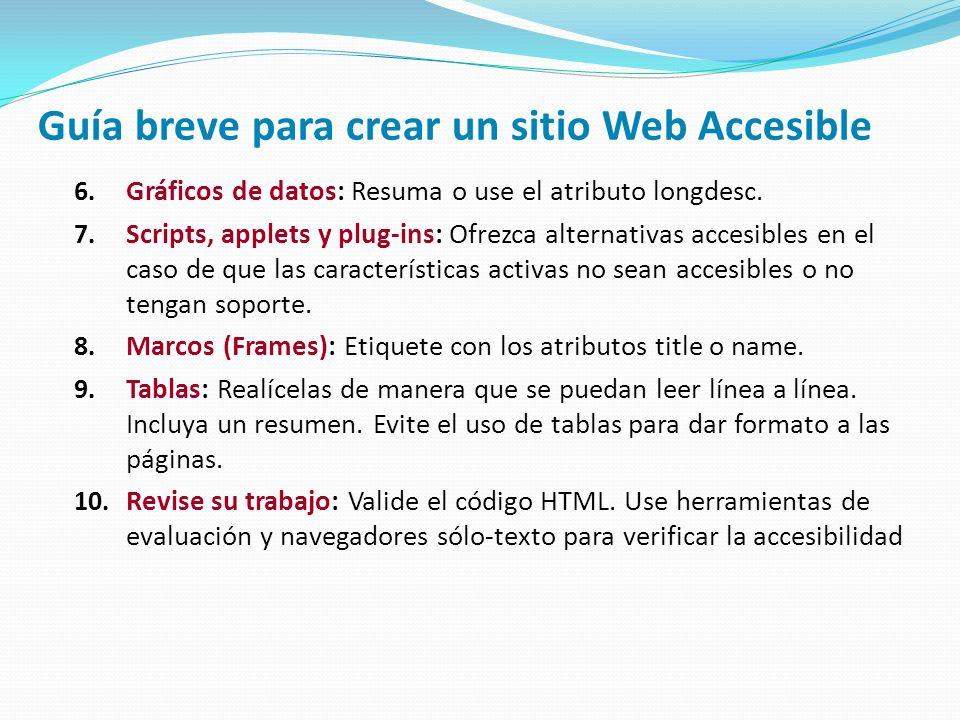 Guía breve para crear un sitio Web Accesible