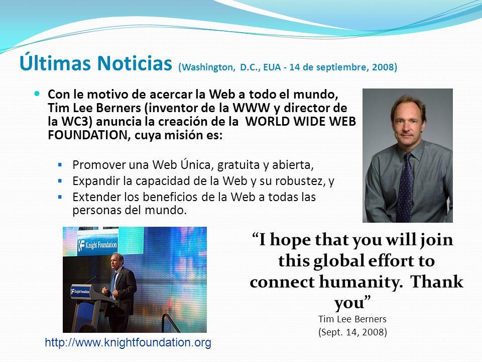 Últimas Noticias (Washington, D.C., EUA - 14 de septiembre, 2008)