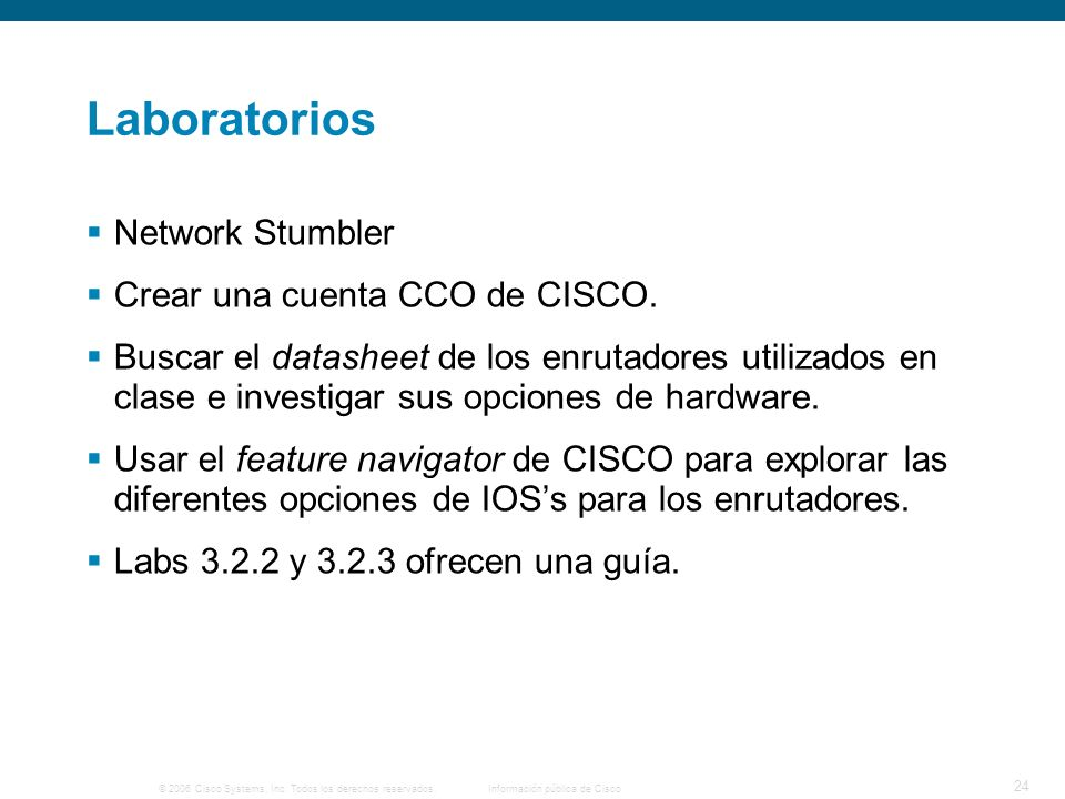 Laboratorios Network Stumbler Crear una cuenta CCO de CISCO.
