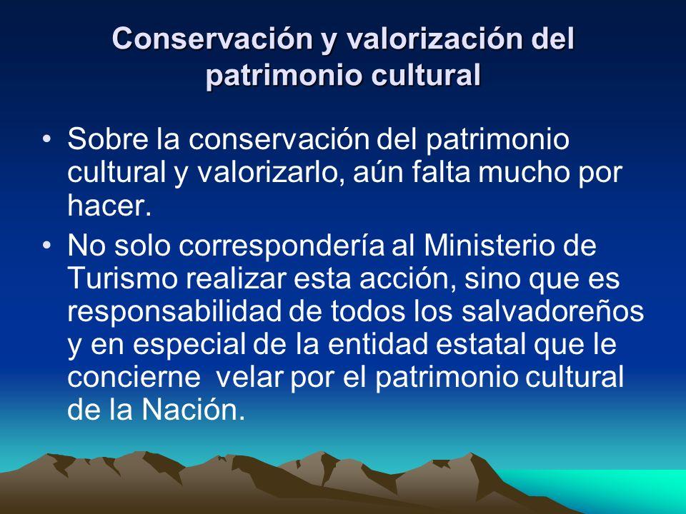 Conservación y valorización del patrimonio cultural