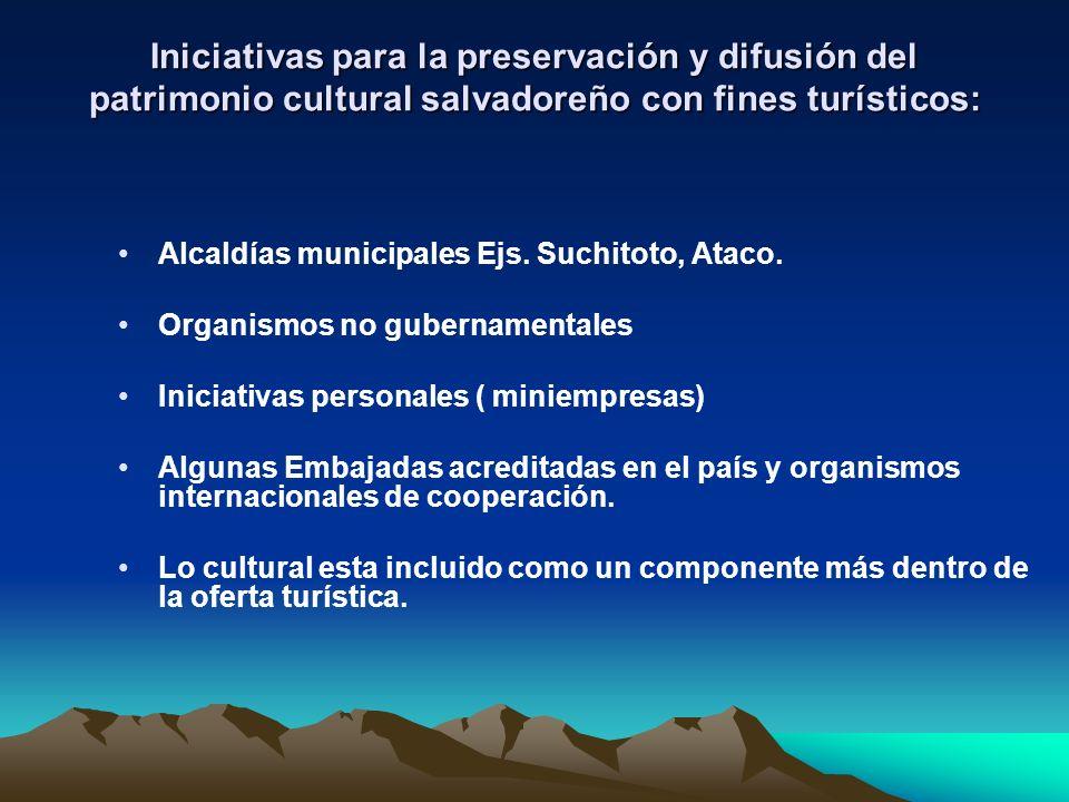 Iniciativas para la preservación y difusión del patrimonio cultural salvadoreño con fines turísticos: