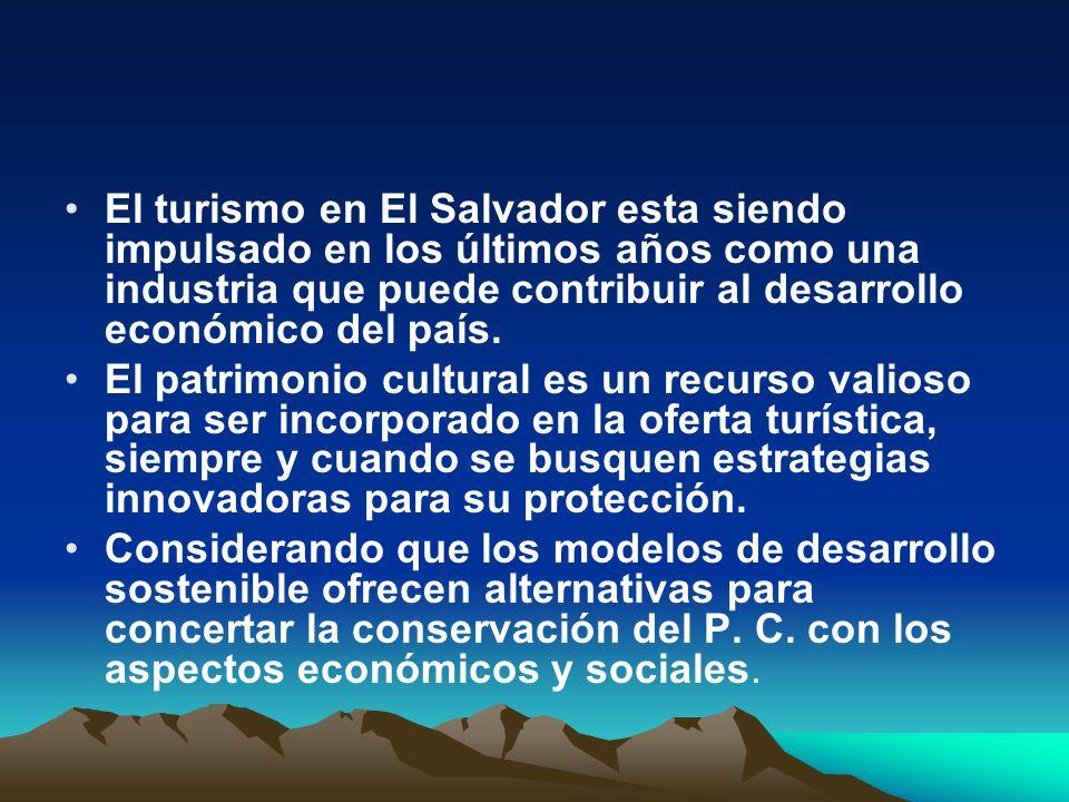 El turismo en El Salvador esta siendo impulsado en los últimos años como una industria que puede contribuir al desarrollo económico del país.