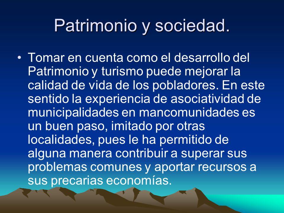 Patrimonio y sociedad.