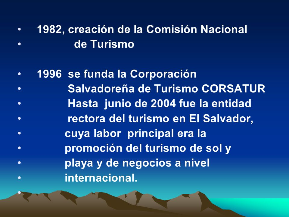 1982, creación de la Comisión Nacional