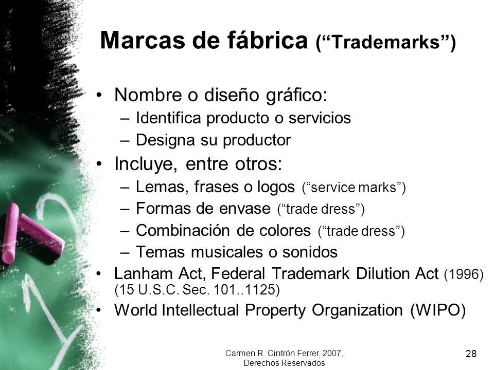 Marcas de fábrica ( Trademarks )