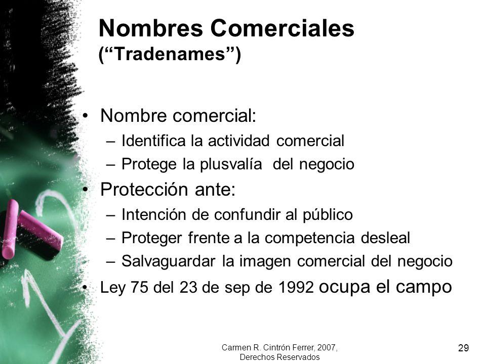 Nombres Comerciales ( Tradenames )